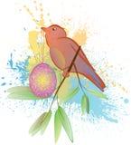 Vogel mit Ei Stockfotografie