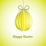 Ostern-Grußkarte mit Ei. Vektorillustration. ENV 10 Lizenzfreie Stockfotografie