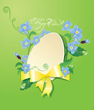 Ostern-Grußkarte mit Papierei Stockbild