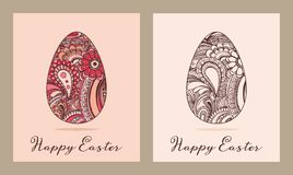 Ostern-Grußkarten-Vektorillustration Lizenzfreies Stockfoto