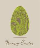 Ostern-Grußkarten-Vektorillustration Lizenzfreie Stockbilder