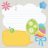 Ostern-Grußkarte Stockbilder