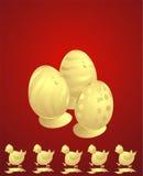 Ostern-Hühner Vektor Abbildung