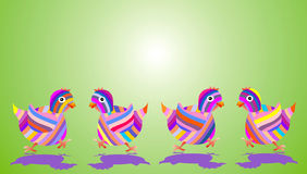 Ostern-Hühner Lizenzfreie Stockfotos