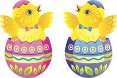 Ostern-Hühner Stockbild