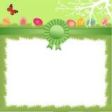 Ostern-Hintergrund mit Eiern Stockbilder