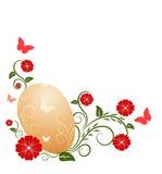 Ostern-Hintergrund mit Mustern Stockfotografie