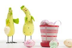 Ostern-Huhnfamilie Lizenzfreie Stockbilder
