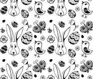 Ostern-Illustrationsmuster lizenzfreie abbildung