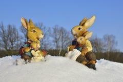 Ostern im Schnee Stockfotografie
