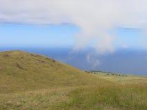 Ostern-Insel - Montierung Terevaka Stockfotografie