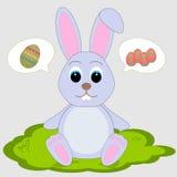 Ostern-Kaninchen im Gras Lizenzfreies Stockfoto