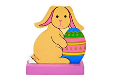 Ostern-Kaninchen mit Ei Lizenzfreie Stockfotos