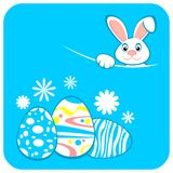 Ostern-Kaninchen und Eier Stockfotos
