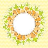 Ostern-Karottenmuster auf einem Gelb Lizenzfreie Stockfotos