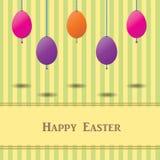 Ostern-Karte mit bunten Eiern Lizenzfreie Stockbilder