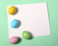 Ostern-Karte mit Eiern Lizenzfreie Stockfotos