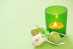 Ostern-Kerze Stockfotos
