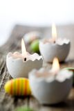 Ostern-Kerzen Stockfotografie