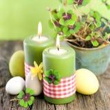 Ostern-Kerzen Stockbild