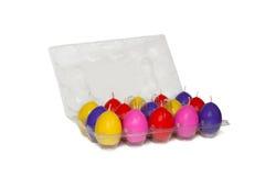 Ostern-Kerzen in der Form der Eier lizenzfreies stockfoto
