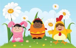 Ostern-Kinder Lizenzfreie Stockbilder