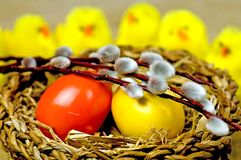 Ostern-Korb Lizenzfreies Stockfoto