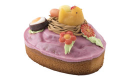 Ostern-Kuchen mit birdsnest Lizenzfreies Stockbild