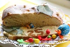 Ostern-Kuchen 25 mit Dekoration Stockbild
