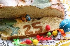 Ostern-Kuchen 25 mit Dekorations-Detail Lizenzfreie Stockfotografie