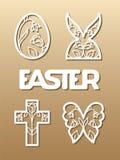 Ostern-Laser-Ausschnitt Lizenzfreie Stockbilder