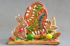 Ostern-Lebkuchen Stockfotografie