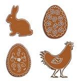 Ostern-Lebkuchen Lizenzfreie Stockbilder