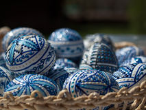 Ostern malte Eier Lizenzfreie Stockfotos