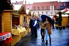 Ostern-Markt in Sibiu Stockbild