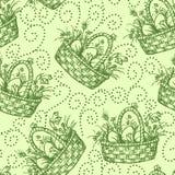 Ostern nahtloses pettern Stockbild