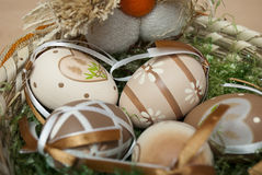Ostern-Nest Stockfoto