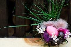 Ostern-Nest-Dekoration stockbild