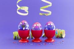 Ostern-Partei mit verrückten Eiern Stockbild