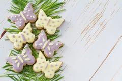 Ostern-Plätzchen mit Gras Lizenzfreie Stockbilder