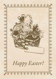 Ostern-Postkarte Stockfotos