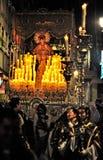 Ostern-Prozessionen in Granada Lizenzfreie Stockfotos