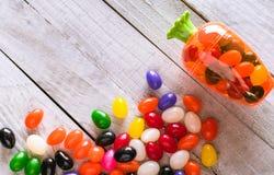 Ostern-Süßigkeits-Hintergrund Bunter Geleebohnenhintergrund Stockfotografie
