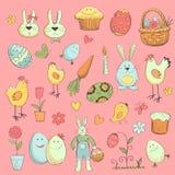 Ostern-Sammlung Elemente für Ihr Design Stockbild