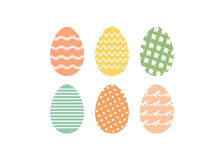Ostern-Satz Eier Stockbilder