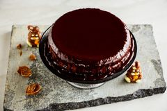 Ostern-Schokoladenkuchen lizenzfreie stockfotografie