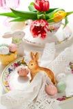 Ostern-Tabelleneinstellung Stockfoto