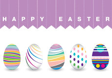 Ostern-Tag für Ei auf weißem Hintergrund Buntes Chevron-Muster für Eier Buntes Ei lokalisiert auf weißem Hintergrund Lizenzfreie Stockbilder