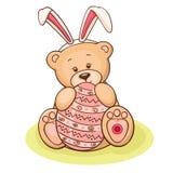 Ostern-Teddybär Lizenzfreie Stockbilder