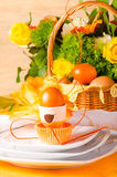 Ostern-Tischschmuck Lizenzfreies Stockfoto